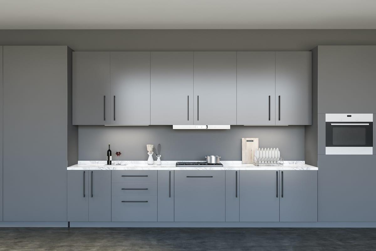 Carrera Marble worktop in a kitchen